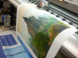 In tranh canvas khổ lớn trang trí tại In Kỹ Thuật Số   In canvas mực nước