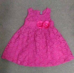 Đầm bé gái hồng sen