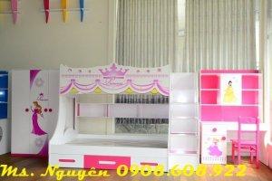 Giường tầng công chúa, bộ phòng công chúa, nội thất trẻ em F21,