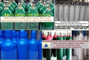 Nạp khí, đổi khí công nghiệp oxy, nito, argon, CO2, Acetylen TP HCM