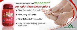 Venpoten hỗ trợ điều trị suy giãn tĩnh mach