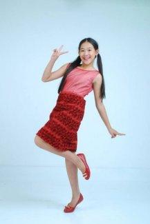 Đầm bé gái hoa hồng đỏ đô