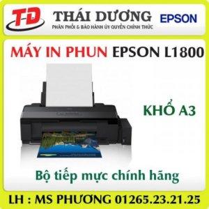 Máy in màu Epson L1800, in a3, hệ thống mực ngoài chính hãng