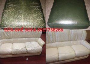 Sửa ghế sofa bạc màu, trầy xước, nứt