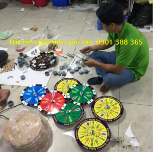Vòng quay vui, vòng quay sát phạt khi nhậu, Hàng loại 1, sản xuất lại công ty.Mã:TA-VQ3