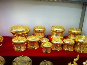 Quà tặng mạ vàng lưu niệm - Trống đồng