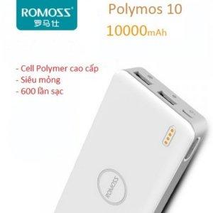Pin Dự Phòng Romoss Polymos 10 Chính Hãng 10.000mah