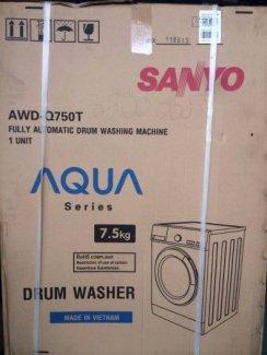 Máy giặt SANYO cửa ngang 7.5 kg. Bảo hành 2 năm chính hãng.Mới 100%