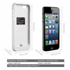 Ốp lưng sạc dự phòng cao cấp JLW cho Iphone 5/5S màu trắng MFW-102