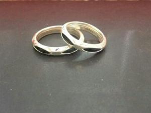 Nhẫn bạc lông voi đơn