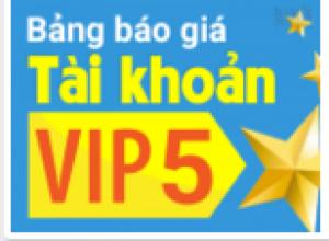 Dù trong thời điểm nào trong năm, tài khoản VIP 5 vẫn được khách hàng quan tâm nhiều nhất!