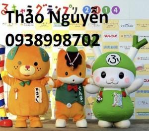 Sản xuất cho thuê mascot, linh vật biểu diễn, thú nhồi bông