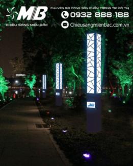 Phối cảnh đèn cảnh quan trang trí đường phố có nhà tài trợ