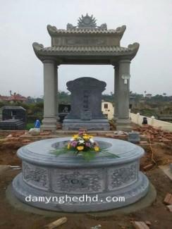 mộ đá đẹp,mẫu mộ đá tròn nguyên khối