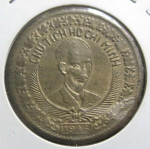 2 Đồng 1946 ( Chất liệu Đồng Đỏ- Bronze )