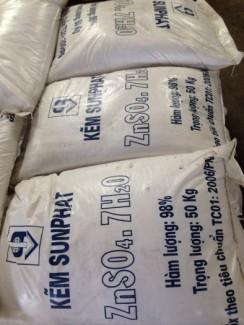 Bán ZnSO4.7H2O(Kẽm Sunfat), Kẽm sunfat chuyên dùng trong khai khoáng tuyển nổi.