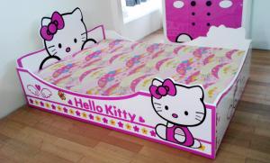 Bộ phòng ngủ Hello Kitty, giường ngủ Hello Kitty, thiết kế nội thất trẻ em F21, Nguyên