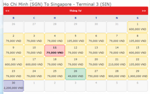 Vé đi singapore giá chỉ 49.000 VND vào tháng...