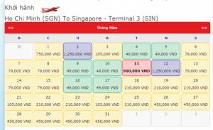 Vé đi singapore giá chỉ 49.000 VND vào tháng 4 ,5
