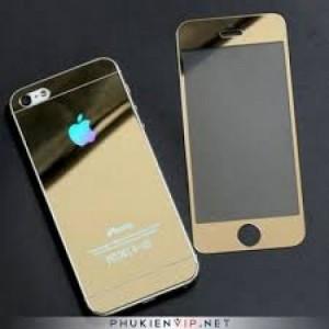 Cường Lực 2 Mặt Màu Vàng Iphone 5 5s