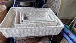 Khay đựng đồ mây tre đan nhiều size
