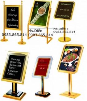 Biển menu, biển thực đơn, biển chào mừng, biển chỉ dẫn,