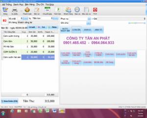 Phần mềm quản lý thu chi cho Quán Cafe trọn bộ