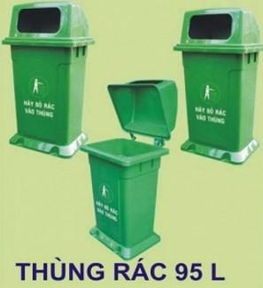Thùng rác 95L MGB - Thùng rác công cộng 95L