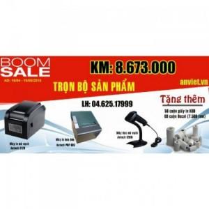 Qúy khách sẽ được khuyến mại thêm các sản phẩm đi kèm khi mua máy in hóa đơn...gói combo3