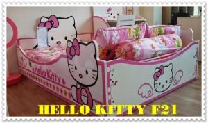 Giường đơn hello kitty, Nội thất giường hello kitty F21, nội thất trẻ em F21, Nguyên