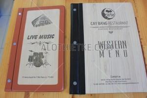 Chuyên thiết kế in ấn menu gỗ đẹp chất lượng
