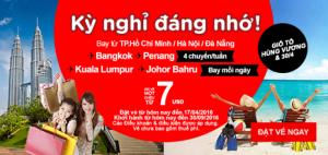 Air Asia tung vé nghỉ hè đi Penang, Johor Bahru 7 USD