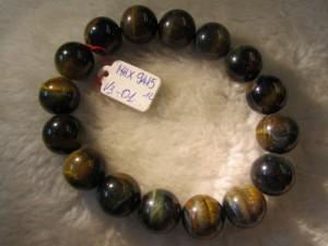 Vòng đeo tay đá Mắt Hổ Xanh thiên nhiên hạt tròn 12ly