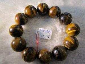 Vòng đeo tay đá Mắt Hổ Vàng thiên nhiên hạt tròn 16ly
