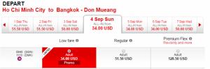Hãng Air Asia khuyến mãi lớn khi đi Bangkok...