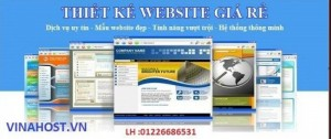 Nhận thiết kế Website-