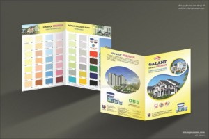 In bảng màu sơn nước – In bảng màu sơn dầu - Quạt màu sơn - Ấn phẩm quảng cáo