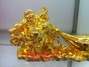 Tượng di lạc mạ vàng