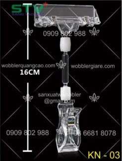sản xuất wobbler, wobbler nhựa, wobbler để bàn, wobbler kẹp lò xo, in wobbler