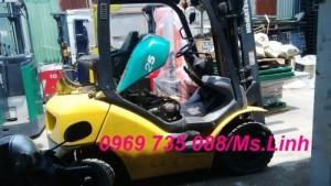 Thanh lý-cho thuê xe nâng xăng ga ngồi lái Komatsu 1.5t-3m