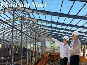 Xây dựng nhà xưởng bằng Khung nhà thép tiền chế KhaiPhat Steel