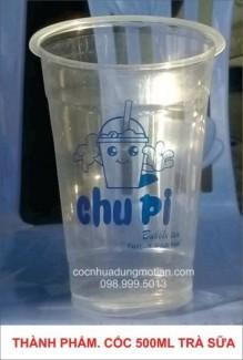 In logo lên ly nắp cầu, ly Trà sữa,cốc dùng một lần
