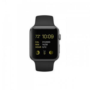Apple Watch Sport, Space Grey Aluminum Case/Black Band, 42mm