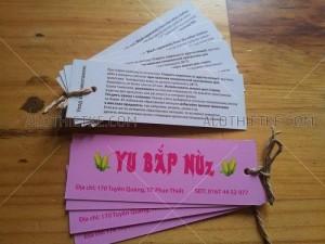 In ấn thiết kế Tag áo giấy, Mác áo vải đẹp chất lượng.