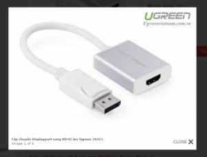 Cáp chuyển đổi DISPLAY PORT ra HDMI chính hãng UGREEN 20411