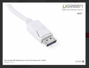 Cable chuyển Display port ra VGA chính hãng Ugreen 20406