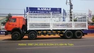 Tải thùng Kamaz 19,3 tấn.