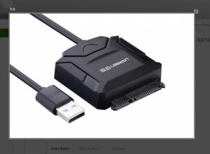 Cáp chuyển đổi USB 2.0 sang SATA chính hãng Ugreen 20215