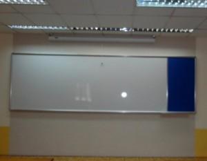 Bảng viết bút lông từ Hàn Quốc 120x300cm ghép bảng ghim 60x120cm