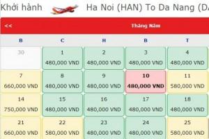Sôi động vé giá rẻ đi Hà Nội - Đà Nẵng 480k mở bán, bay thôi!